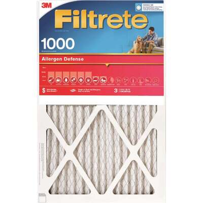 3M Filtrete 20 In. x 30 In. x 1 In. Allergen Defense 1000/1085 MPR Furnace Filter