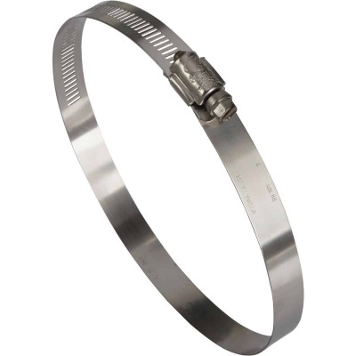 Ideal 4 In. - 6 In. All Stainless Steel Marine-Grade Hose Clamp