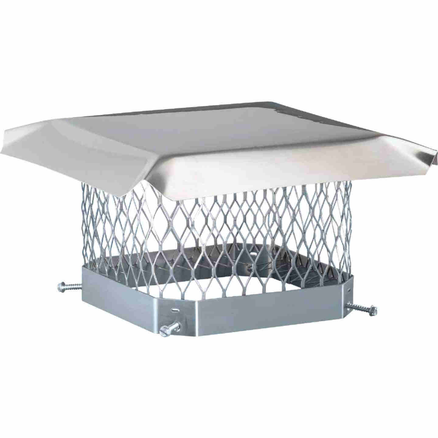 Shelter 13 In. x 13 In. Stainless Steel Single Flue Chimney Cap Image 1