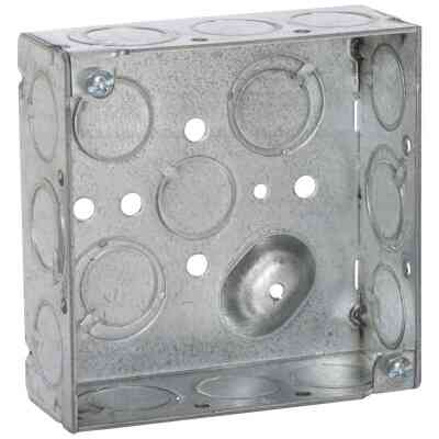 Raco Screw-On 4 In. x 4 In. Welded Steel Square Box