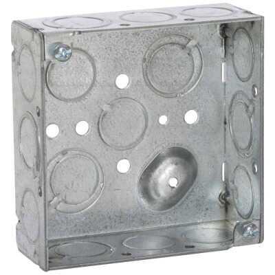 Raco Screw-On 4 In. x 4 In. Welded Steel Square Box