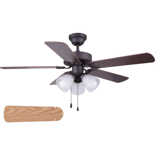 Home Impressions Studio 42 In. Oil Rubbed Bronze Ceiling Fan with Light Kit