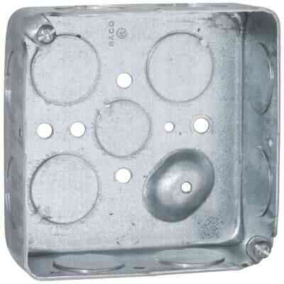 Raco Screw-On 4 In. x 4 In. Drawn Steel Square Box