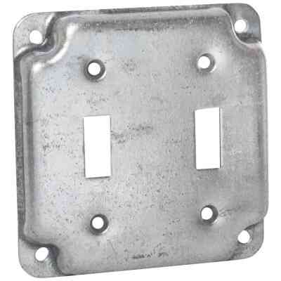 Raco 2-Toggle Switch 4 In. x 4 In. Square Device Cover