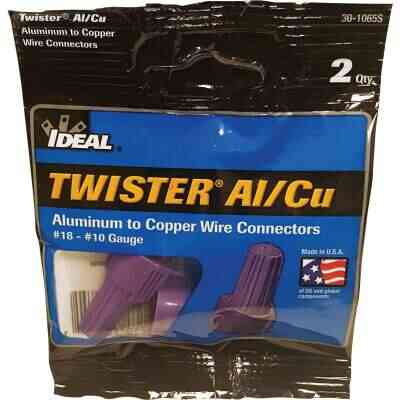 Ideal Large Purple Aluminum to Copper Wire Connector (2-Pack)