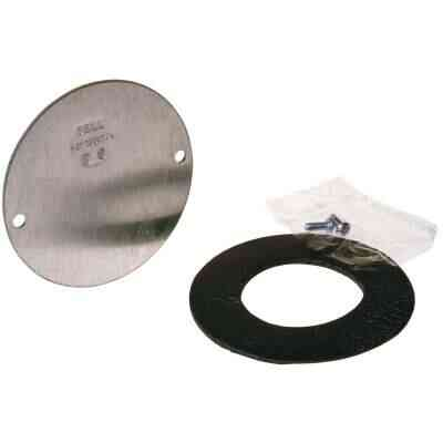 Bell 4 In. Blank Gray Aluminum Weatherproof Electrical Round Box Cover