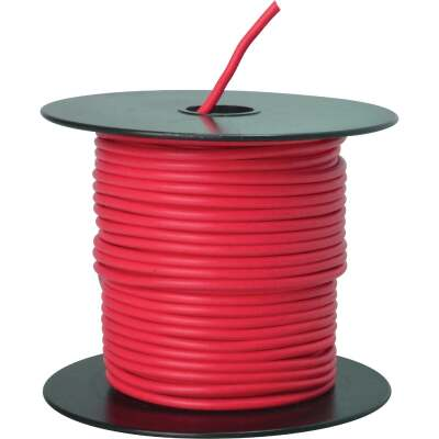 ROAD POWER 100 Ft. 14 Ga. PVC-Coated Primary Wire, Red