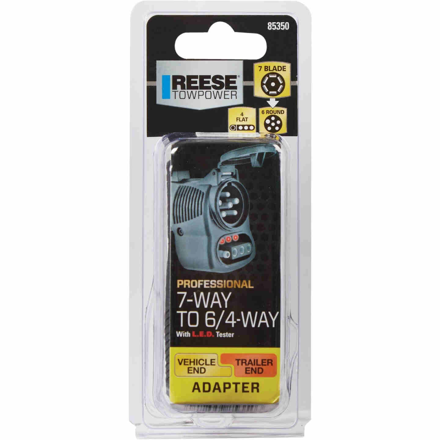 Reese Towpower 7-Blade to 6-Round and 4-Flat Plug-In Adapter Image 2