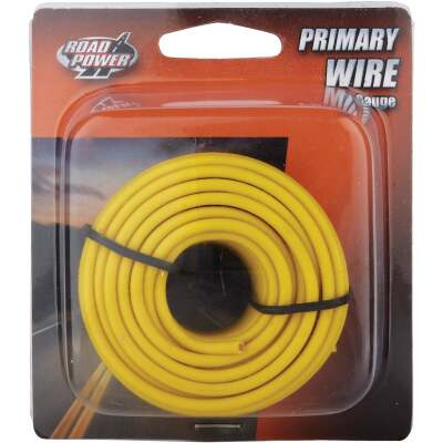 ROAD POWER 24 Ft. 16 Ga. PVC-Coated Primary Wire, Yellow