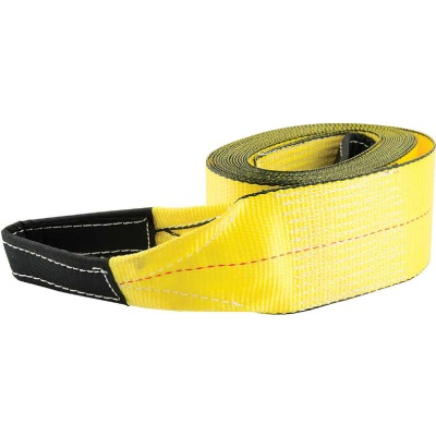Erickson 4 In. x 30 Ft. 10,000 Lb. Polyester Tow Strap with Loops, Yellow