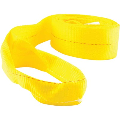 Erickson 2 In. x 20 Ft. 4500 Lb. Polyester Tow Strap with Loops, Yellow