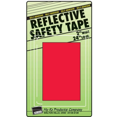 Hy-Ko 2 In. W. x 24 In. L. Red Reflective Safety Tape
