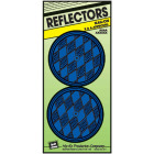Hy-Ko 3-1/4 In. Dia. Round Blue Nail-On Reflector (2-Pack) Image 1