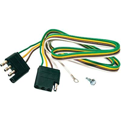Reese Towpower 4-Flat 36 In. Loop with Ground Eyelet Vehicle/Trailer Connector Set