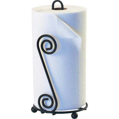 Spectrum Elegant Scroll Countertop Portable Paper Towel Holder