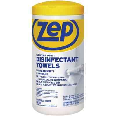 Zep Clean'ems Spirit II Disinfectant Towelettes (80-Count)