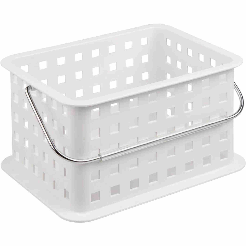 InterDesign Small White Plastic Basket Image 1