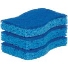 3M Scotch-Brite 4.4 In. x 2.6 In. Blue Scratch Free Scrub Sponge (3-Count) Image 4