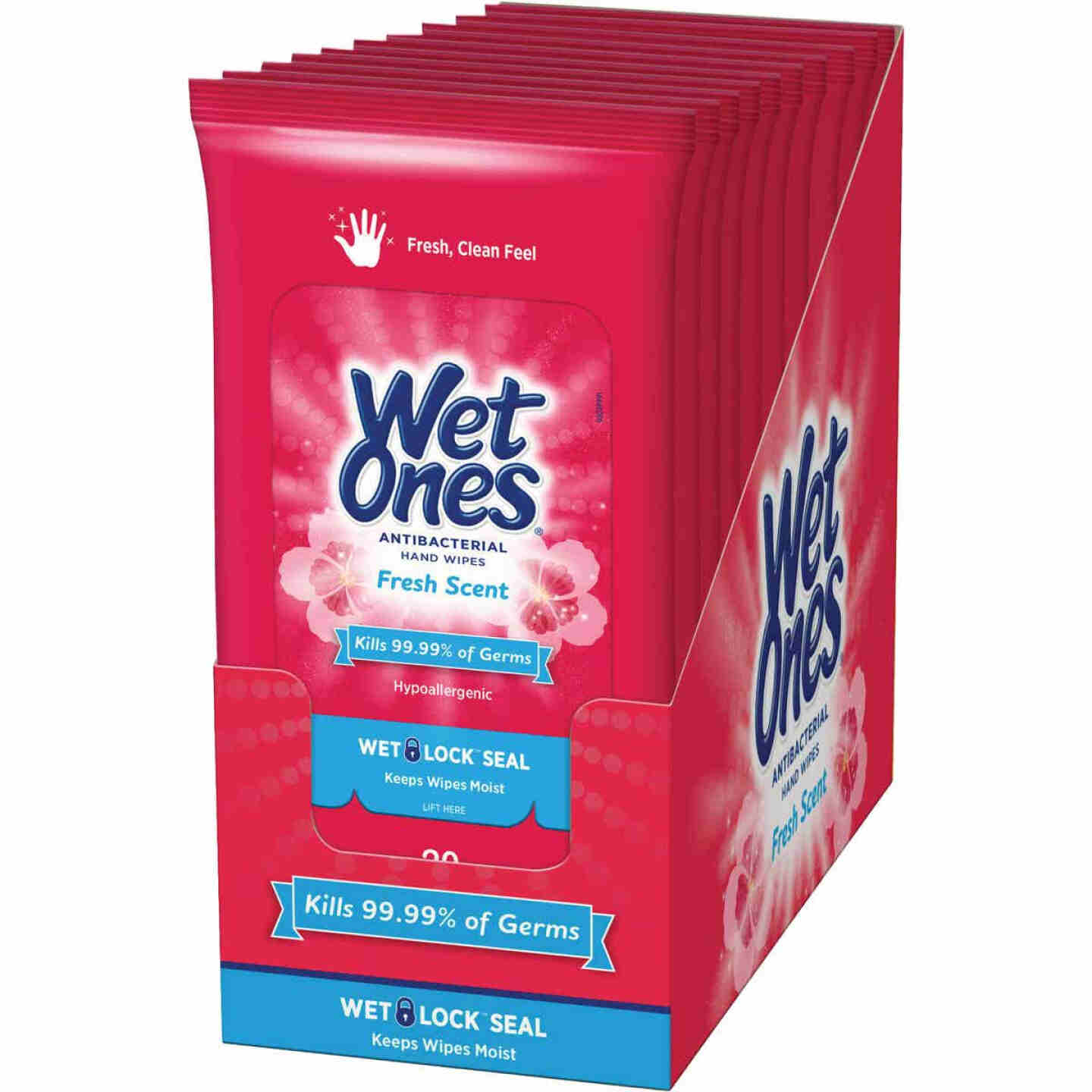 Wet Ones Fresh Scent Antibacterial Disinfectant Individual Hand Cleaning Wipes (20-Count) Image 2