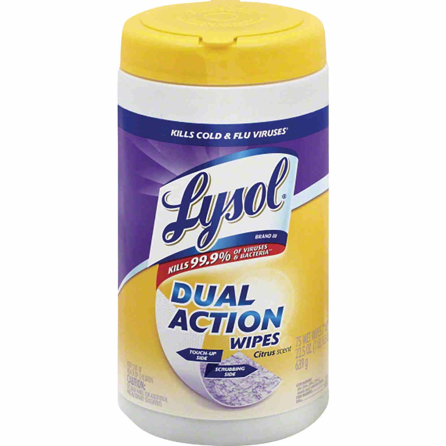 Lysol Dual Action Disinfecting Wipes (75-Count) Image 1