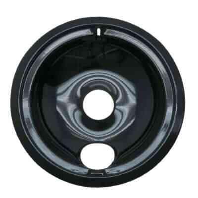 "Range Kleen Electric 6"" Style B Round Black Drip Pan"