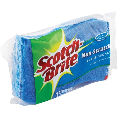 3M Scotch-Brite 4.4 In. x 2.6 In. Blue Scratch Free Scrub Sponge