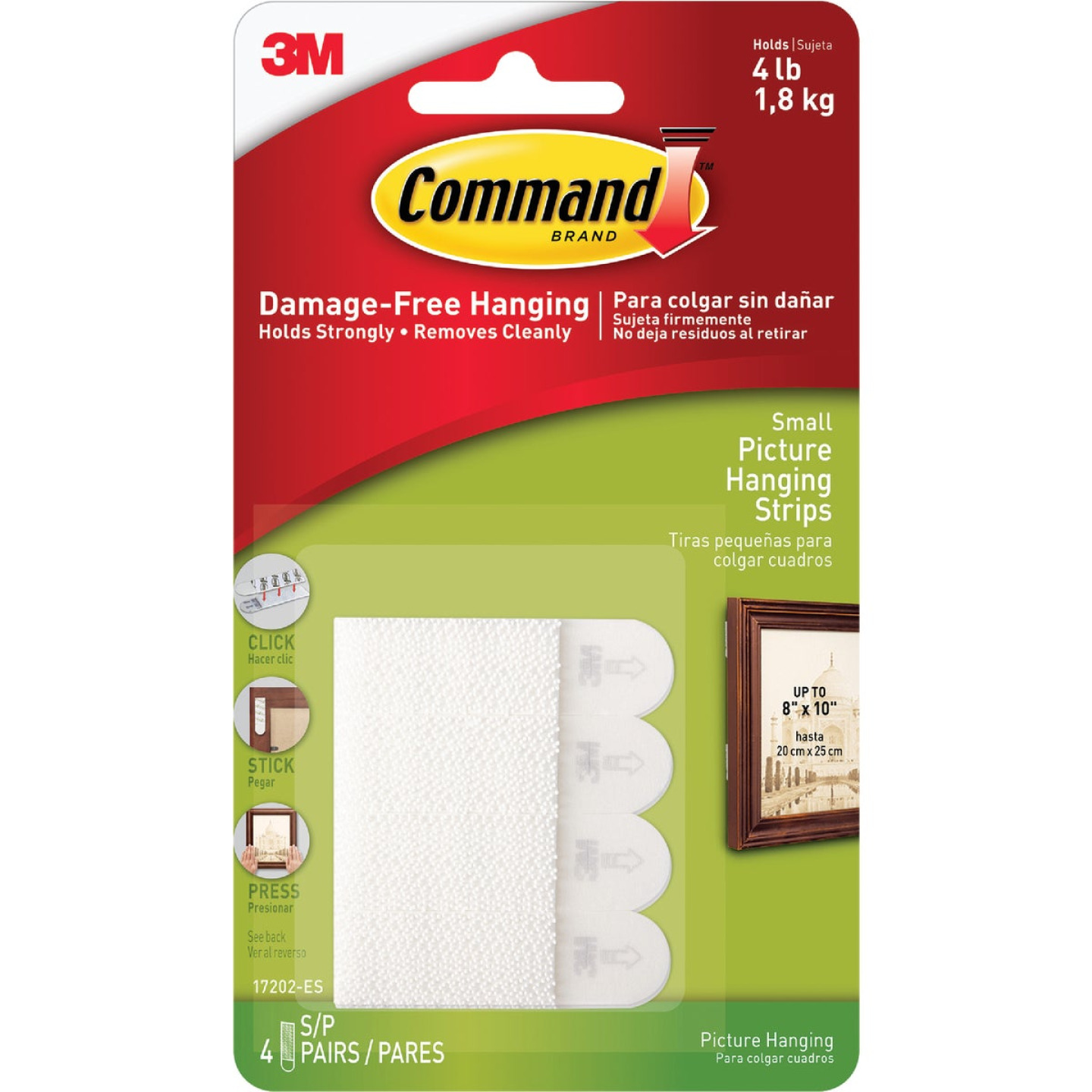 Command 5/8 In. x 2-1/4 In. White Interlocking Picture Hanger (8 Count) Image 2