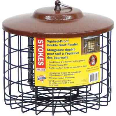 Stokes Select Black 2-Cake Metal Squirrel Proof Suet Feeder
