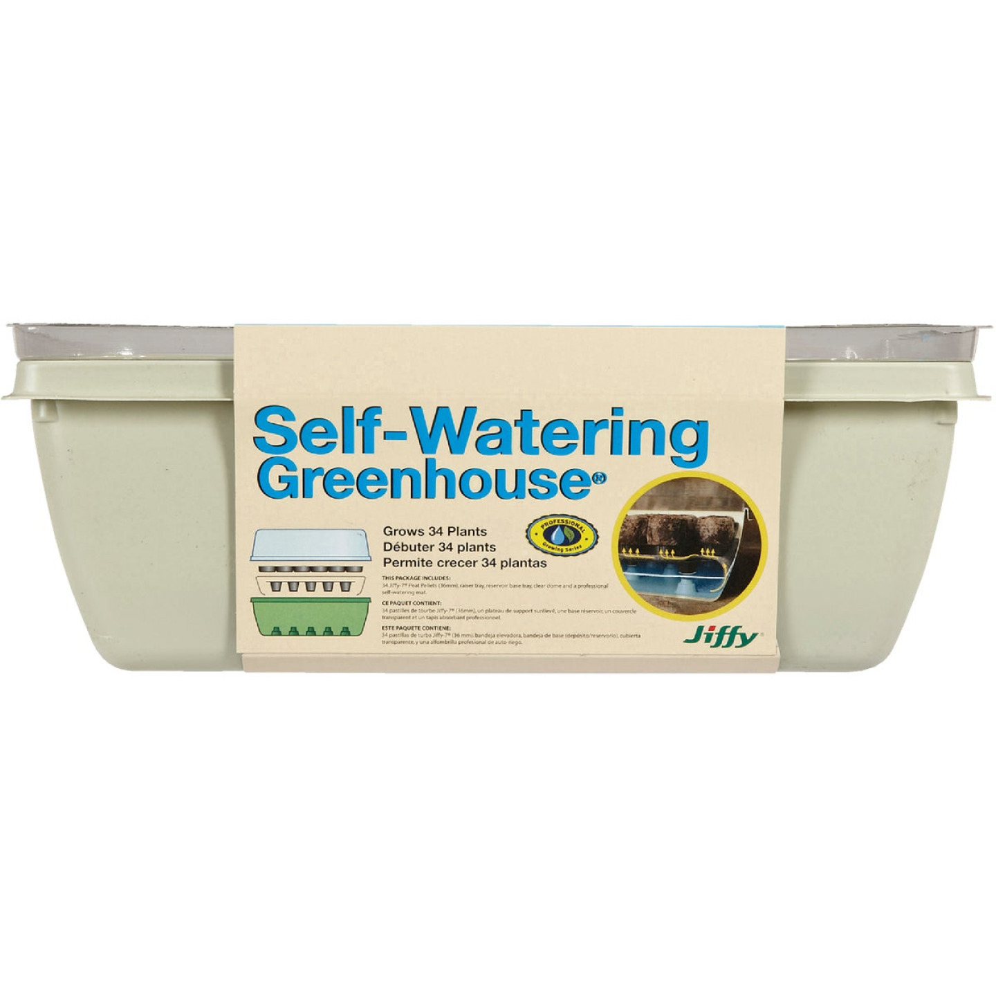 Jiffy 34-Cell 11 In. x 11 In. Self Watering Greenhouse Seed Starter Kit Image 2