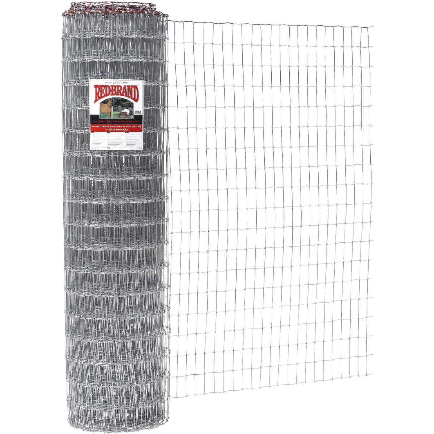 Keystone Red Brand 48 In. H. x 100 Ft. L. Galvanized Steel Class 1 Square Deal Non-Climb Horse Fence Image 1