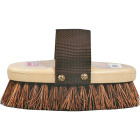Decker Palmyra Fiber Bristles 1-1/4 In. Trim Size Cowboy Style Horse Grooming Brush Image 1