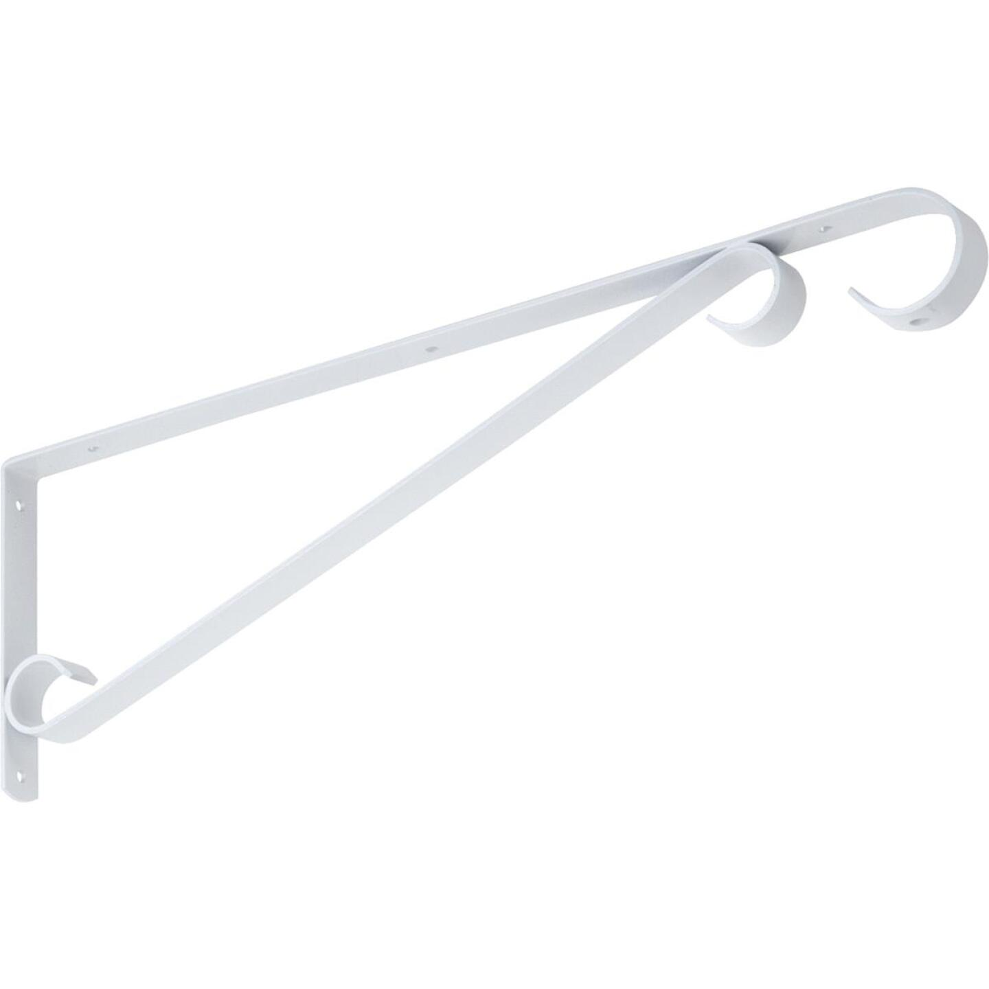 National 15 In. White Steel Hanging Plant Bracket Image 4