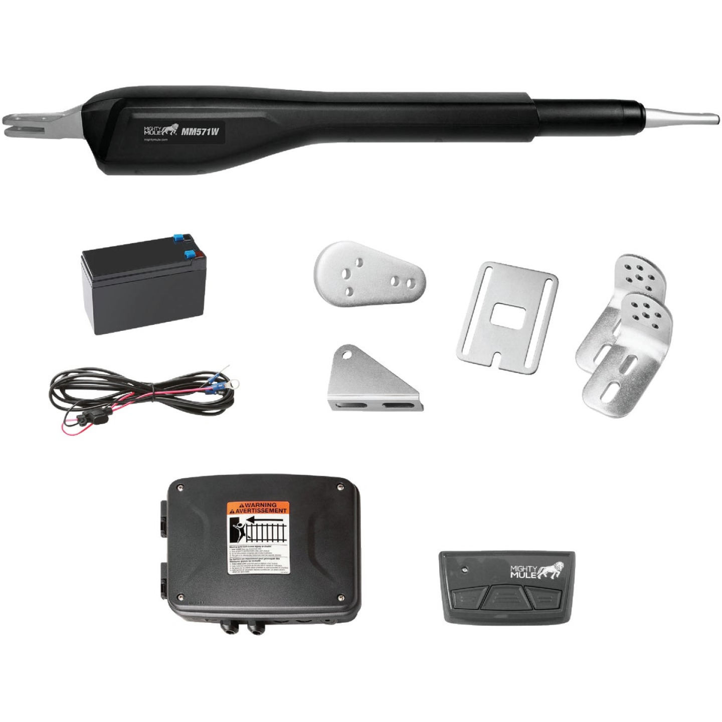 Mighty Mule MM71W 18 Ft. 850 Lb. Heavy-Duty Single Gate Opener Kit Image 1