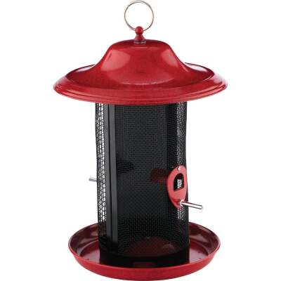 Stokes Select Red Rock Plastic Dual Chamber Bird Feeder