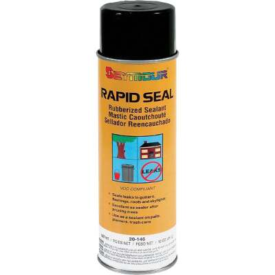 Seymour Rapid Seal 18 Oz. Rubberized Sealant, Black