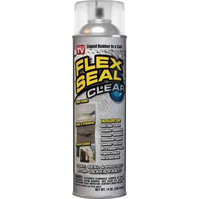 FLEX SEAL 14 Oz. Spray Rubber Sealant, Clear