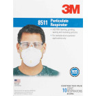 3M N95 Woodworking, Sanding and Fiberglass Valved Respirator (10-Pack) Image 3