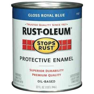 Rust-Oleum Stops Rust Oil Based Gloss Protective Rust Control Enamel, Royal Blue, 1 Qt.