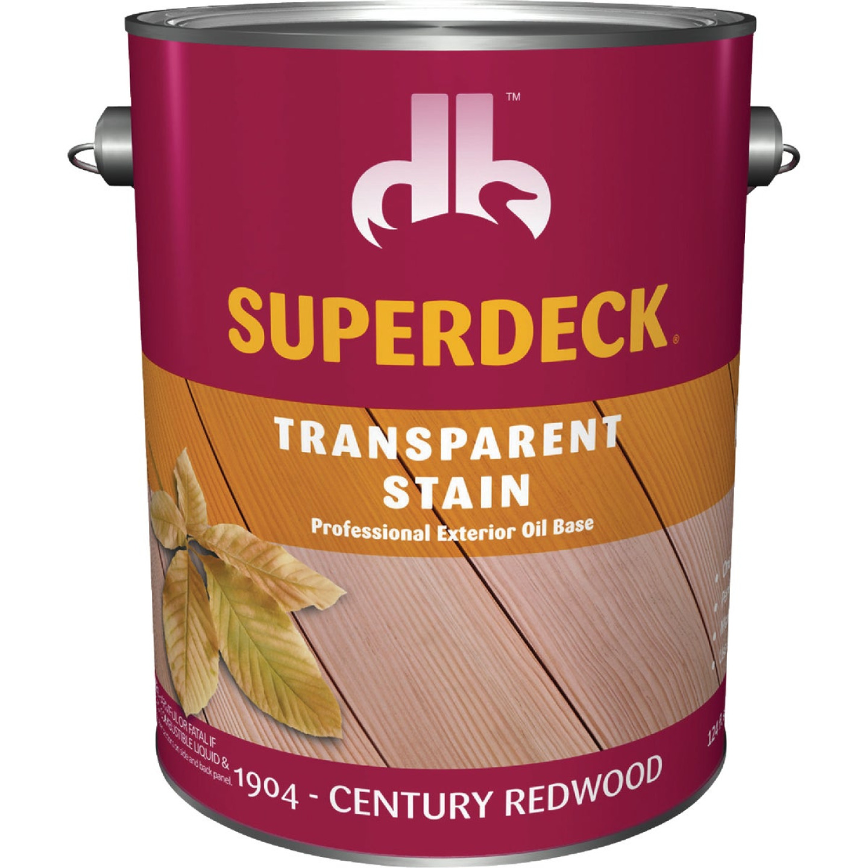 Duckback SUPERDECK Transparent Exterior Stain, Century Redwood, 1 Gal. Image 1