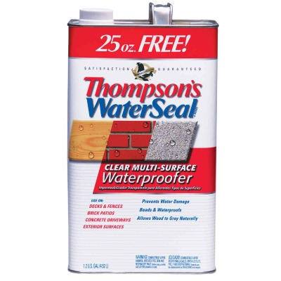 Thompsons WaterSeal Clear VOC MultiSurface Waterproofing Sealer, 1.2 Gal.