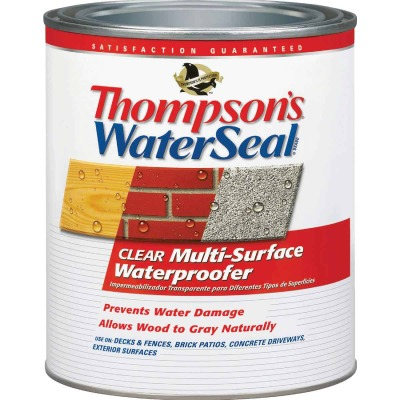 Thompsons WaterSeal Clear VOC MultiSurface Waterproofing Sealer, 1 Qt.