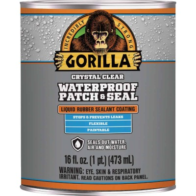 Gorilla 16 Oz. Clear Waterproof Patch & Seal Liquid