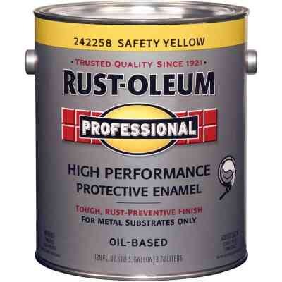Rust-Oleum Gloss VOC for SCAQMD Professional Enamel, Yellow, 1 Gal.