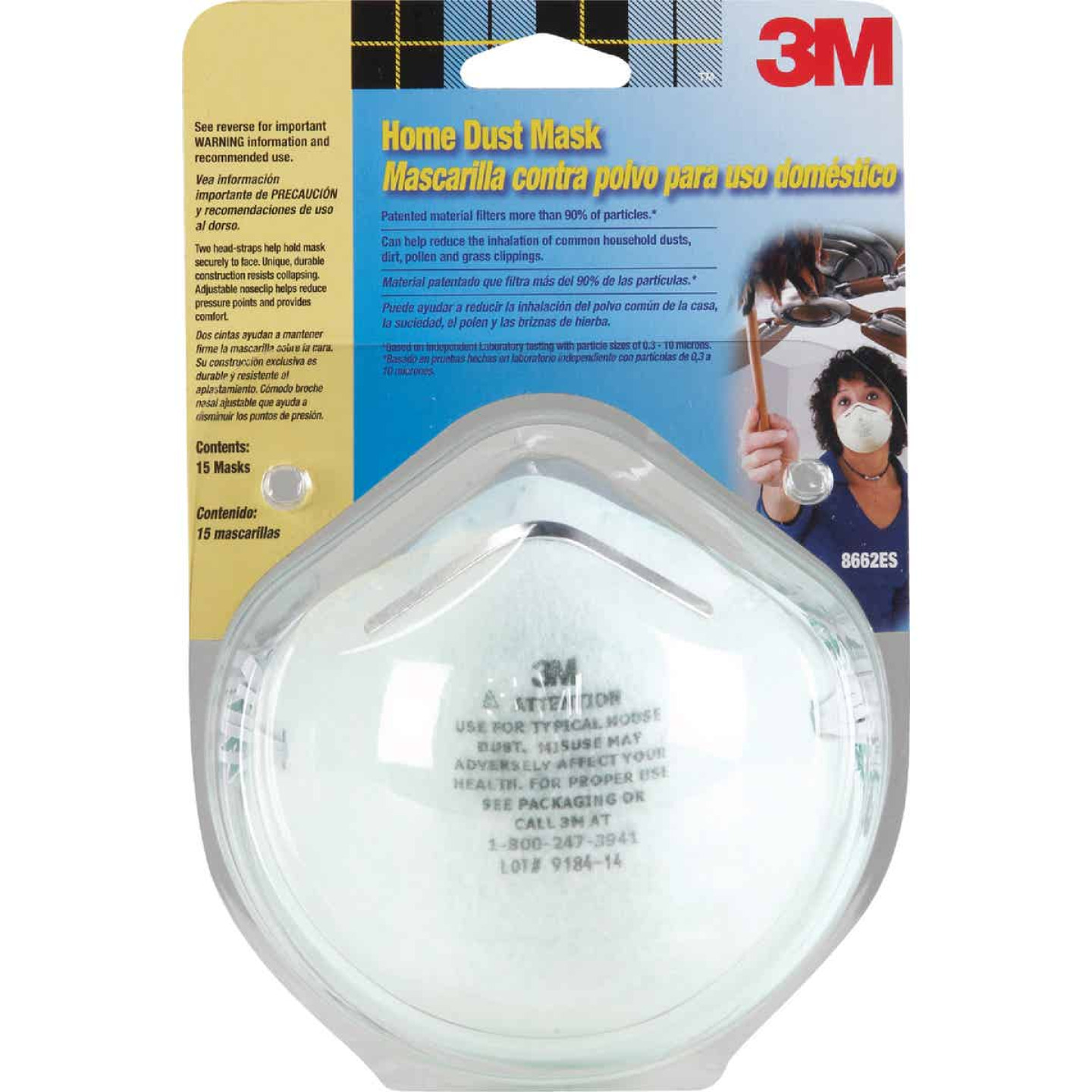 3M Disposable Home Dust Mask (15-Pack) Image 1