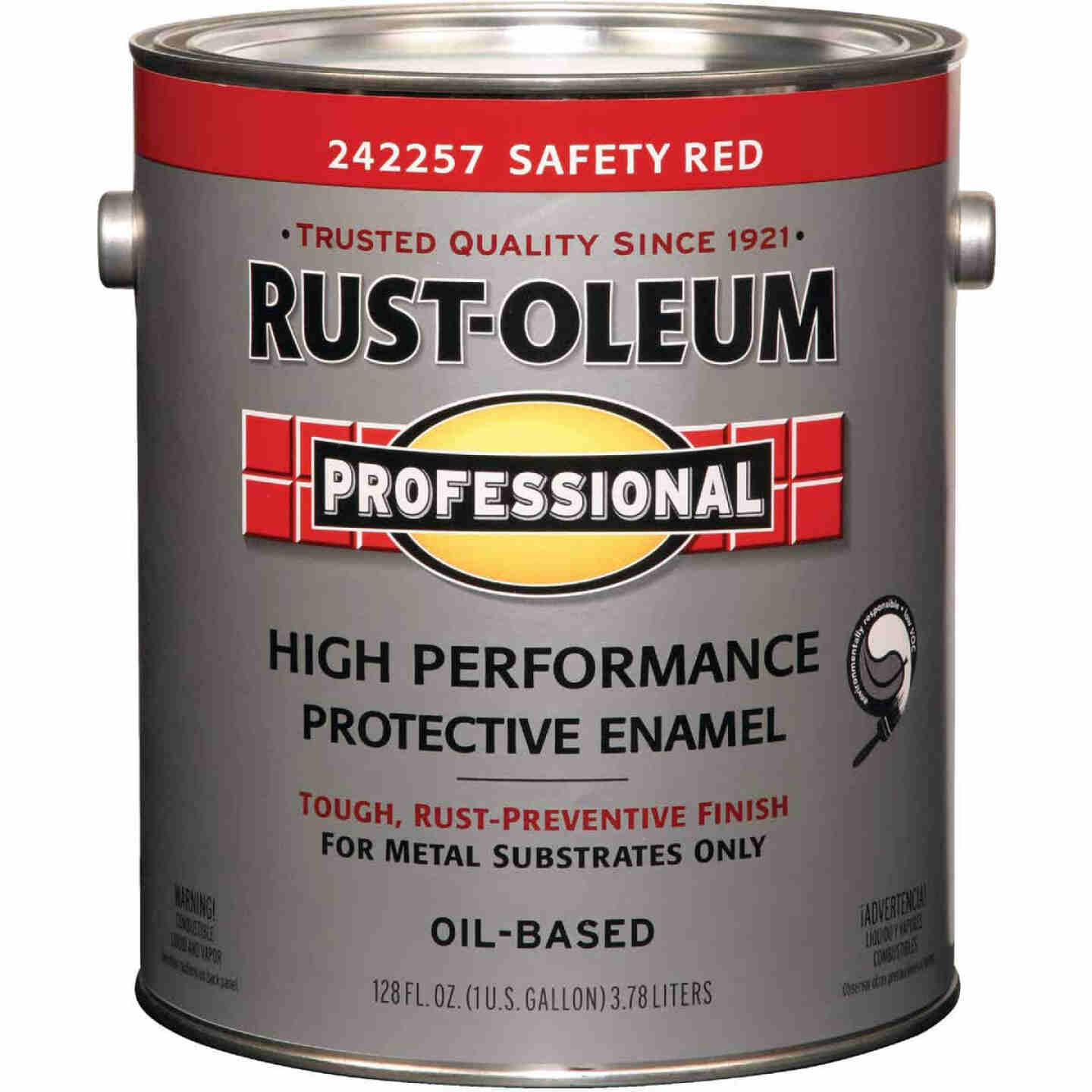 Rust-Oleum Gloss VOC for SCAQMD Professional Enamel, Safety Red, 1 Gal. Image 1