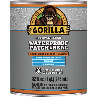 Gorilla 32 Oz. Clear Waterproof Patch & Seal Liquid