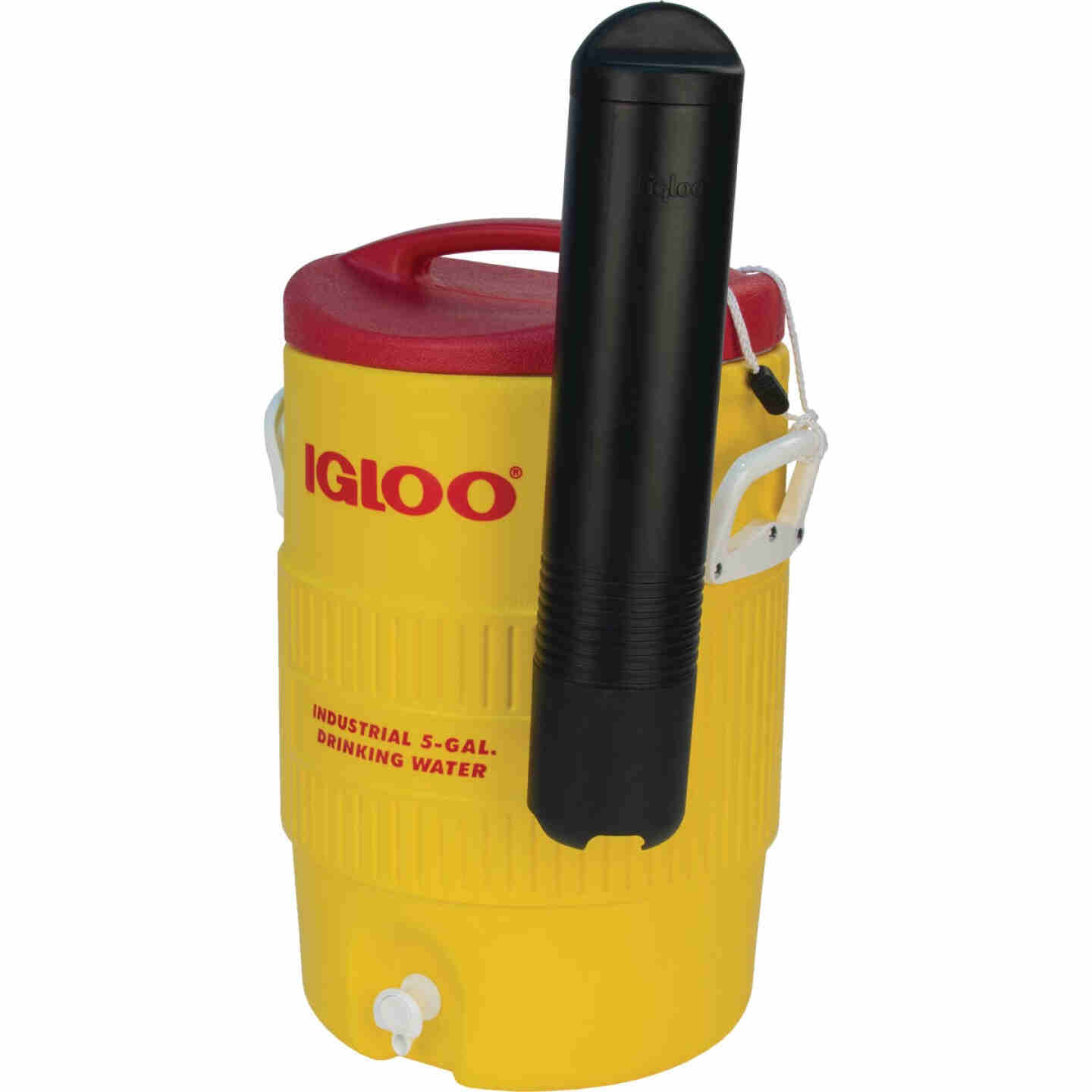 Igloo 5 Gal. Yellow Industrial Water Jug with Cup Dispenser Image 2