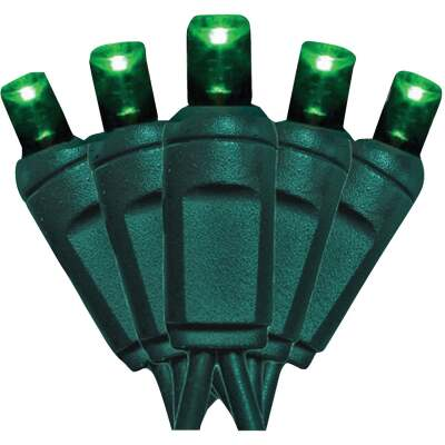 J Hofert Green 100-Bulb M5 LED Light Set
