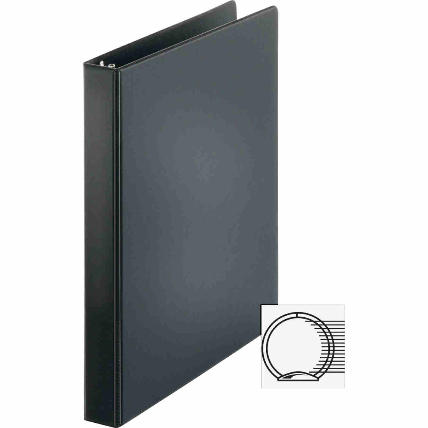 Business Source 1 In. Black 3-Ring Binder Image 1