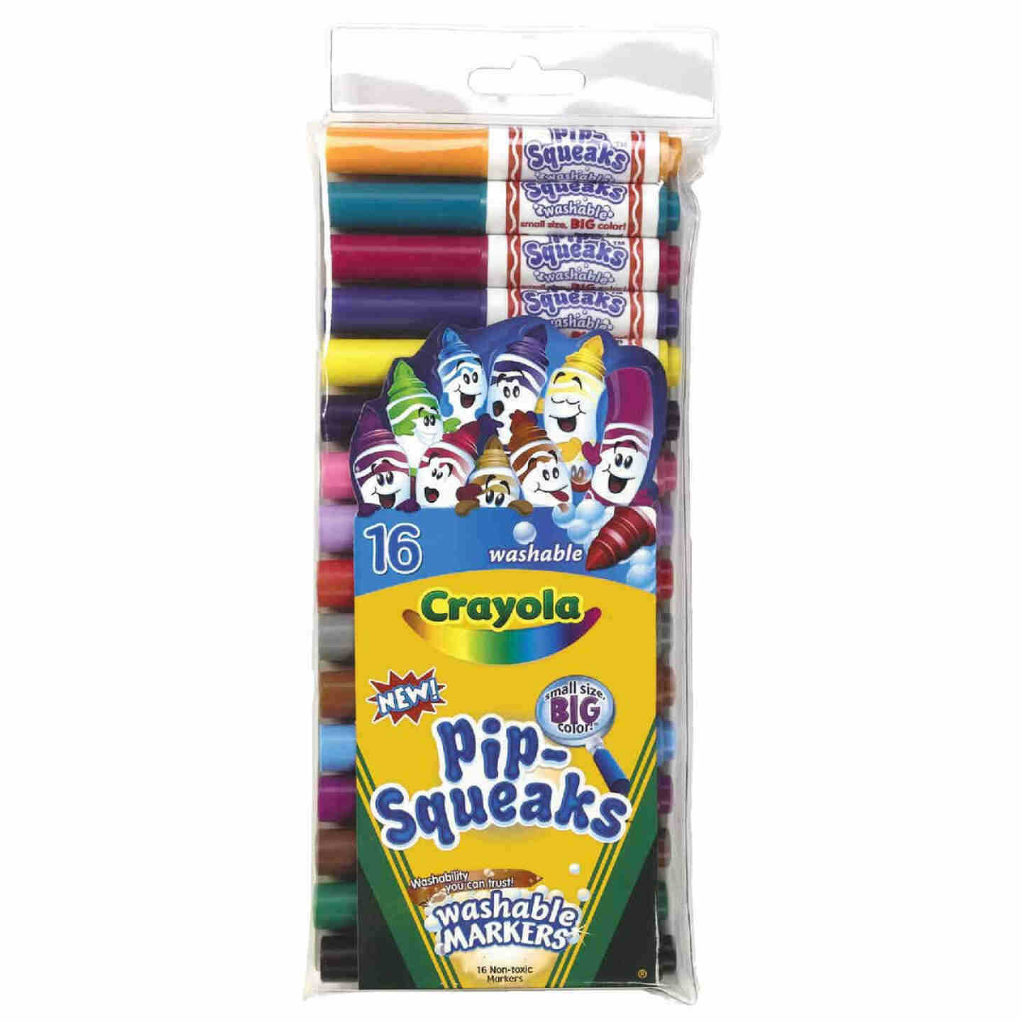 Crayola Pip-Squeaks Assorted Color Conical Nib Washable Marker (16-Pack) Image 1